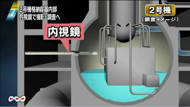 Tepco is planning to check inside of the reactor2 by endoscope on 1/19 2