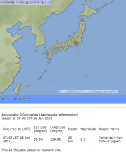 M5 class of earthquake hit Japan 4 times in 2 hours3