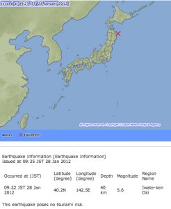 M5 class of earthquake hit Japan 4 times in 2 hours5