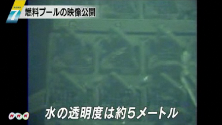 Tepco released the video of the SFP of reactor 4 5
