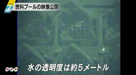 Tepco released the video of the SFP of reactor 4 3