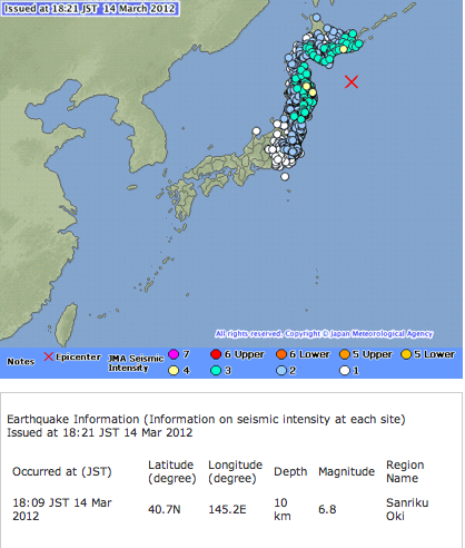 M7 and Tsunami alert for North Japan