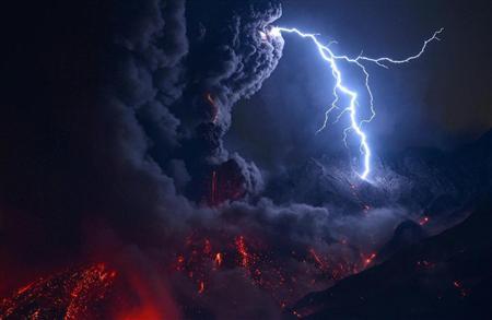Sakurajima erupted