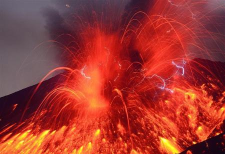 Sakurajima erupted2