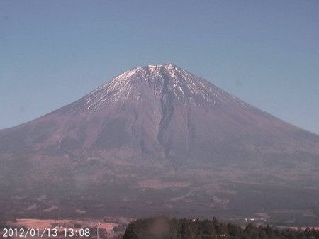Mt. Fuji is melting its snow2