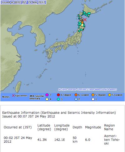 M6.0 hit Aomori
