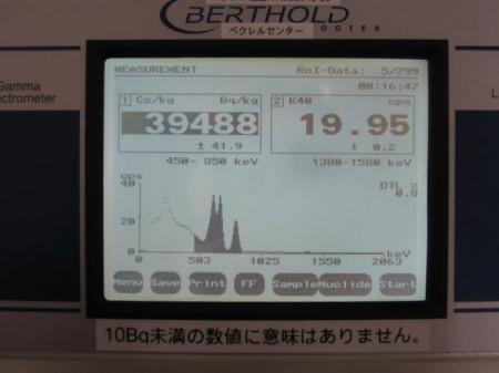 2,566,720Bq/㎡ in Edogawa ku Tokyo