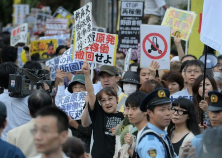 [Hydrangea revolution] 45,000 joined demonstration against the restart of Ohi nuclear plant 14