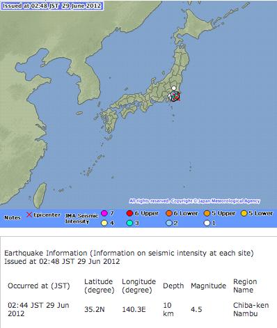 M4.5 hit Chiba