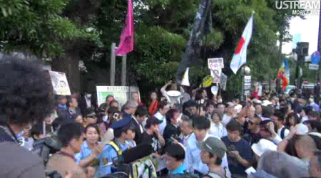 [Photos] Demonstration of 200,000 people occupied official residence49