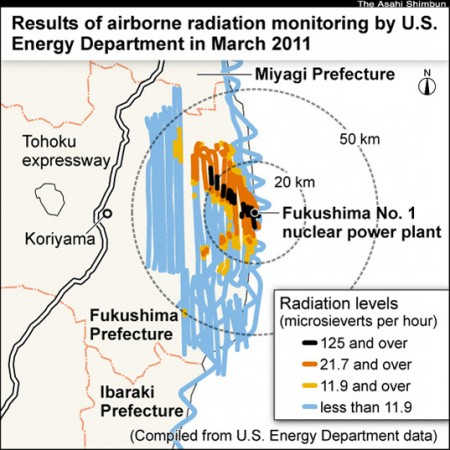 [Asahi]Government ignored U.S. radiation monitoring data in days after 3/11