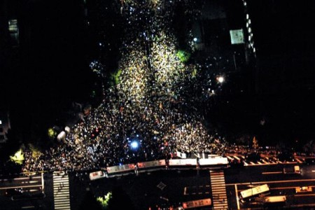 [Video] 200,000 demonstration from sky 2