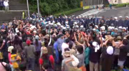 [Live] Citizens resisting against pre-emption. Police caught crying. 7
