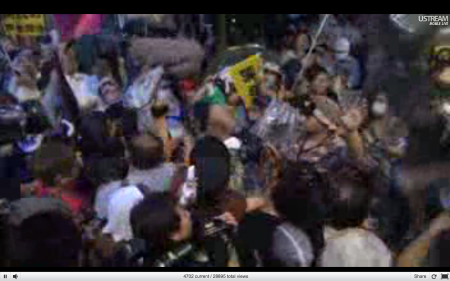 [Live] Police blocks official residence 10