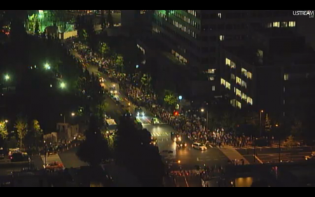 [Live] Police blocks official residence 2