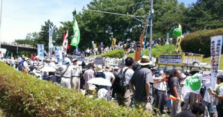 "[Ajisai Revolution] 170,000 people joined protest ""We won't die in insult.""5"