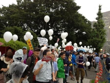 [Ajisai Revolution] Protest on vehicles4