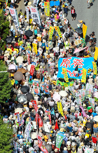 "[Ajisai Revolution] 170,000 people joined protest ""We won't die in insult.""22"