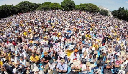 "[Ajisai Revolution] 170,000 people joined protest ""We won't die in insult.""21"