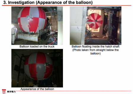 [This is not a joke] Tepco flew a balloon to research reactor1 but it stopped by a cable. 3
