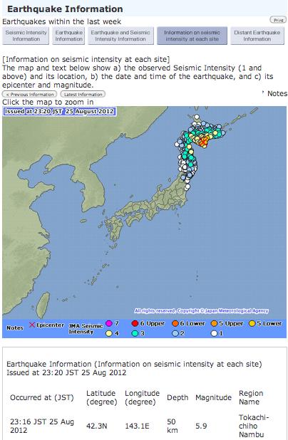 M5.9 Hokkaido, JMA seismic intensity was 5-