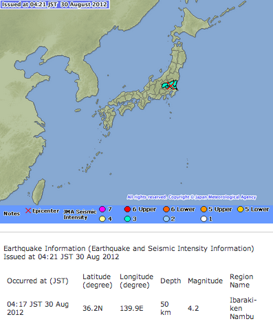 M5.7 and M4.2 hit eastern Japan continuously 3