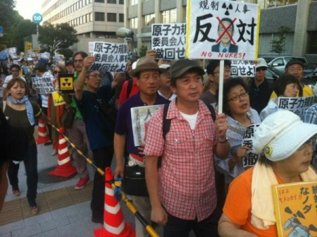 "[Ajisai] Protest started ""Against Tanaka, the new chairman of nuclear regulatory commission"" 5"