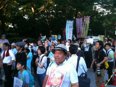 "[Ajisai] Protest started ""Against Tanaka, the new chairman of nuclear regulatory commission"" 6"