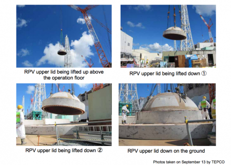 Tepco removed the RPV lid of reactor4 2