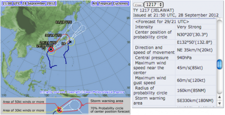 2 typhoons are going to pass eastern Japan