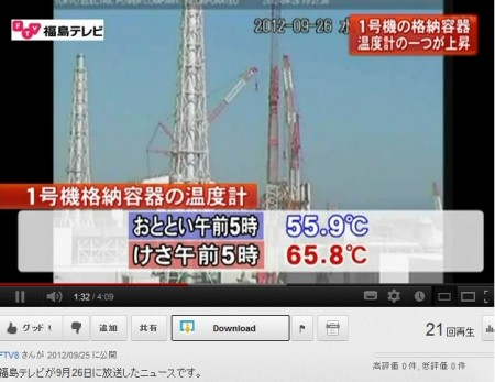 """PCV temperature is rapidly increasing in reactor1, """"10℃ in 2 days"""" 3"""