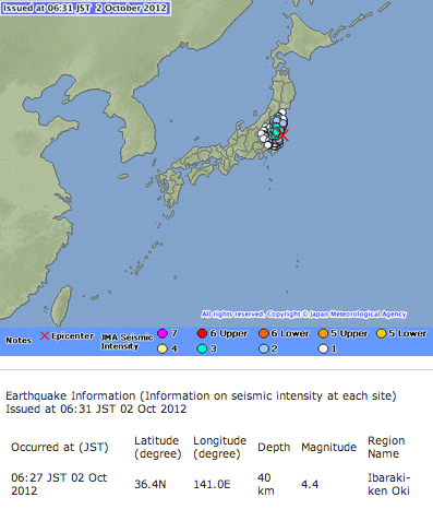 M4.4  Ibaraki offshore