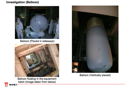 Video of reinvestigation of reactor1 operation floor with balloon equipment 3
