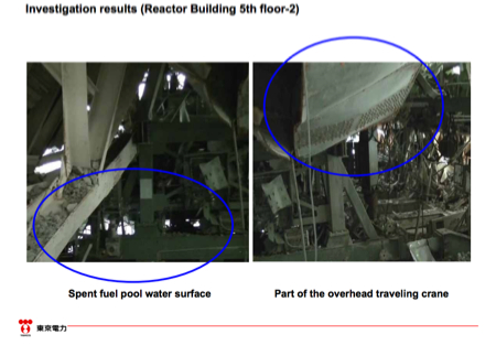 Video of reinvestigation of reactor1 operation floor with balloon equipment 5