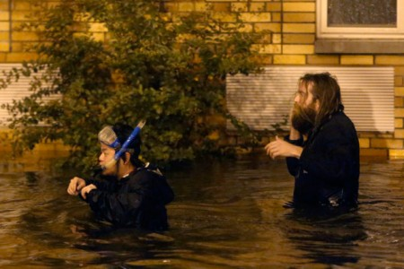 "[Où est l'inondation ?] En direct de Brooklyn, à New-York, sous la ""super-dépression"" Sandy"