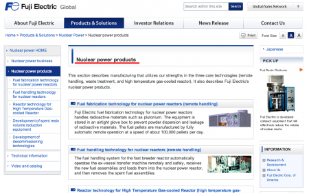 Monitoring posts are made by nuclear power maker