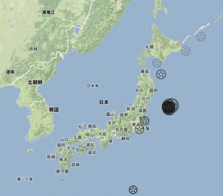 "32 quakes in 48 hours after M7.3 of 12/7/2012, it was 38 after 3/9/2011 ""39th quake was 311"""