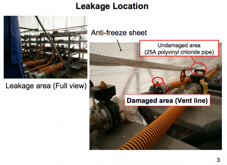 "4 Another water leakage from desalination system, ""2.0 mSv/h of atmospheric dose"""