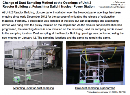This is the dust sampling equipment of Fukushima nuclear plant