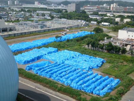 "[Express] ""This is how incineration ash of sewage sludge is stocked in Kanazawa ward Yokohama"""