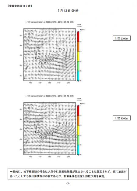 8 MEXT immediately released the SPEEDI data for N. Korea nuclear test