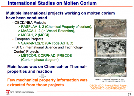 "7 Tepco ""Molten fuel may be in various parts of reactor, takes up to 35 years to remove, international help is needed"""