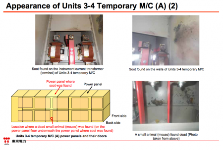"""4 [Power stoppage] Tepco sounds serious, """"Electric shock mark was found on the dead mouse"""""""