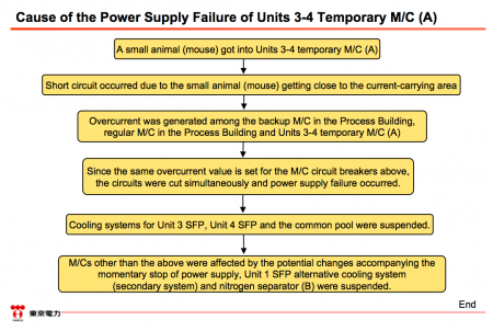 """12 [Power stoppage] Tepco sounds serious, """"Electric shock mark was found on the dead mouse"""""""