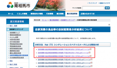 Minamisoma city published radiation data for the request of Fukushima Diary