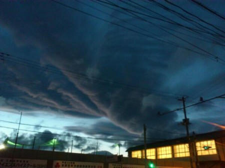 [Just in case] Strange shape of cloud in Morioka Iwate
