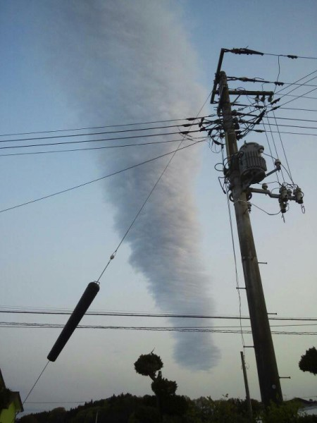 [Just in case] A tornado looking cloud observed in Fukushima