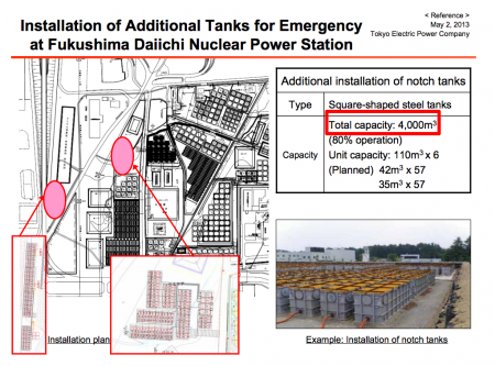 Tepco's newly built emergency tank would be full only within 10 days