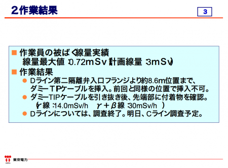 """5 Unverified highly radioactive sediment collected from 8.6m inside of reactor2 PCV again, """"30 mSv/h of γ&β dose"""""""