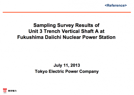 English report about 150,000,000,000Bq/m3 of Cs-134/137 in reactor3 trench shaft